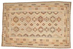Kelim tapijt figuren naast elkaar
